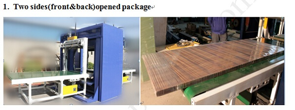 Door packing solution: Door wrapping machine and door shrinking machine