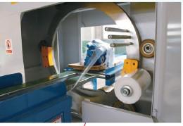 Упаковочная линия для двери с использованием стрейч-пленки Упаковочная линия для двери