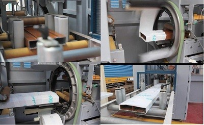 aluminum wrapping machine