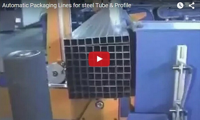 automatic steel tube bundling and packing line