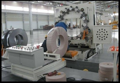 metal steel coil packaging line