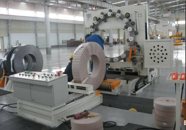 steel strip coil packaging line