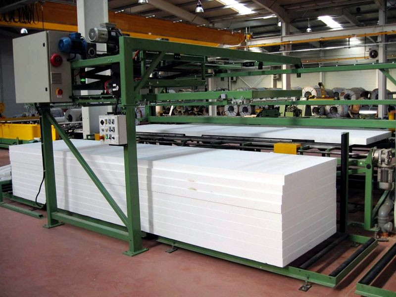 EPS panel packing solution: wrapping and shrinking packing line