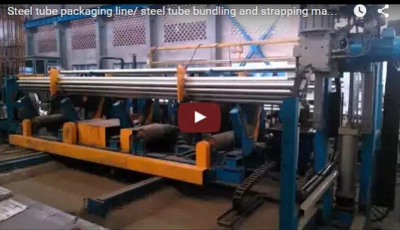 Automatic pipe tube bundling&strapping line