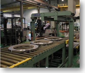 coil strapping machine, coil wrapping line