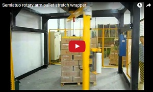 semiauto rotary arm stretch wrapper