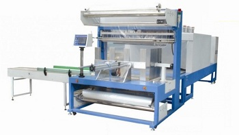 board packing machine with shrinking tunnel
