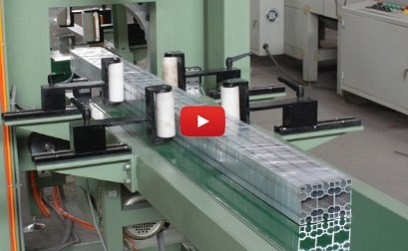 aluminum profile wrapping and packing machine