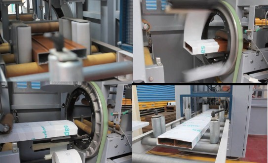 motor horizontal stretch wrapping machine