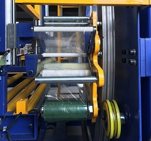 film carriage of orbital stretch wrap machine