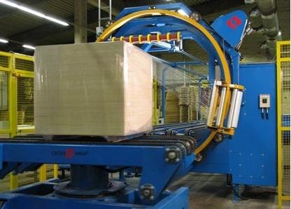 horizontal stretch wrapper, stretch wrapping machine