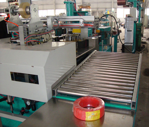 automatic cable winding and wrapping machine