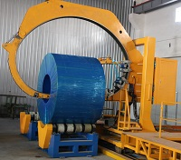 Automatic wire coil compactor