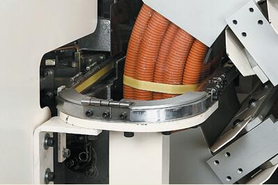 Automatic hose | pipe coiling machine & strapping machine