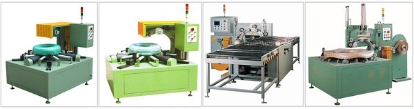 horizontal coil packaging machine and line