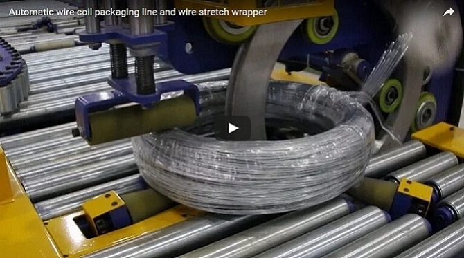 wire coil packaging line|wire coil stretch wrapper|wire wrapping macchine