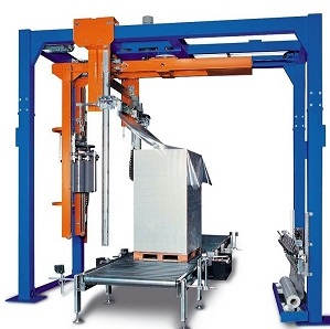 used stretch wrap machine with scale