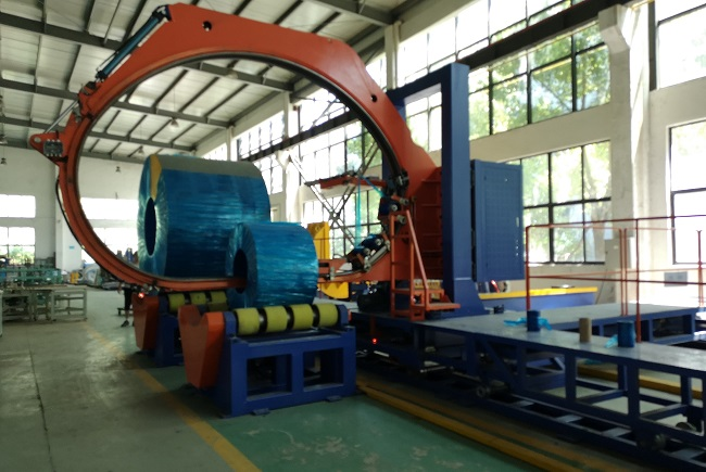 COIL KING STRETCH WRAPPER PACKING MACHINE