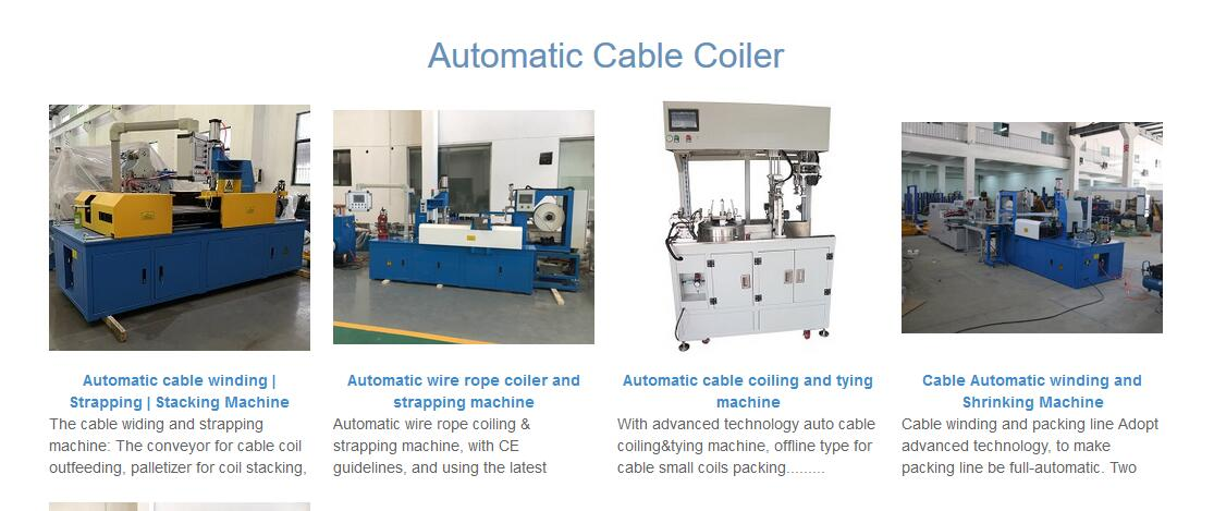 cable coiling machine in CHINA