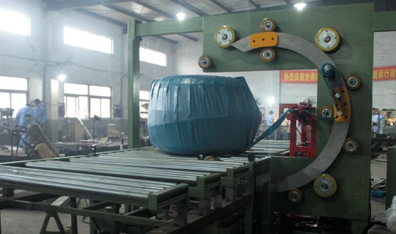 big coil horizontal wrapping machine