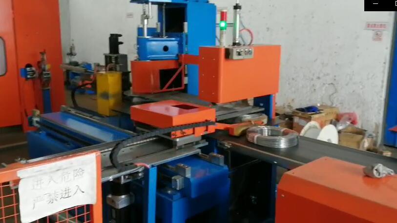 steel wire coiling and strapping machine