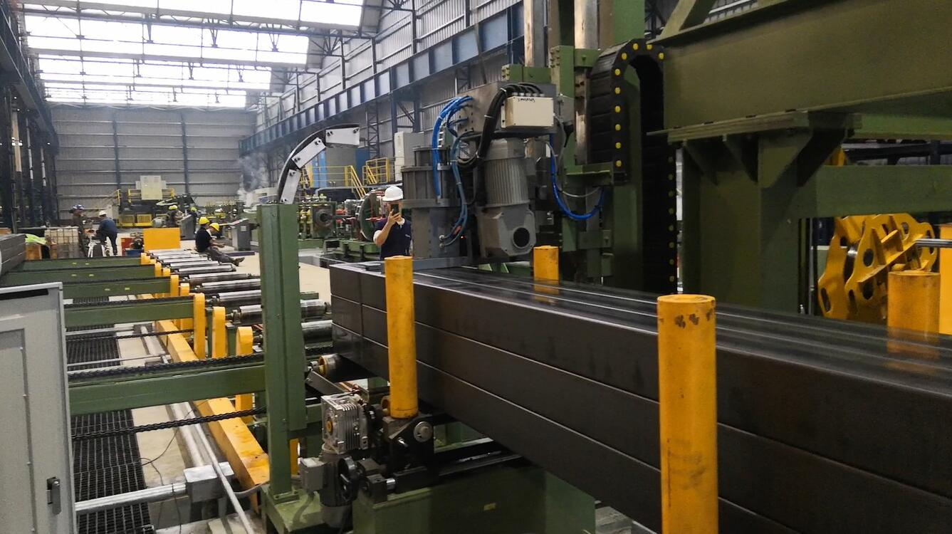rectangular steel pipe strapping line