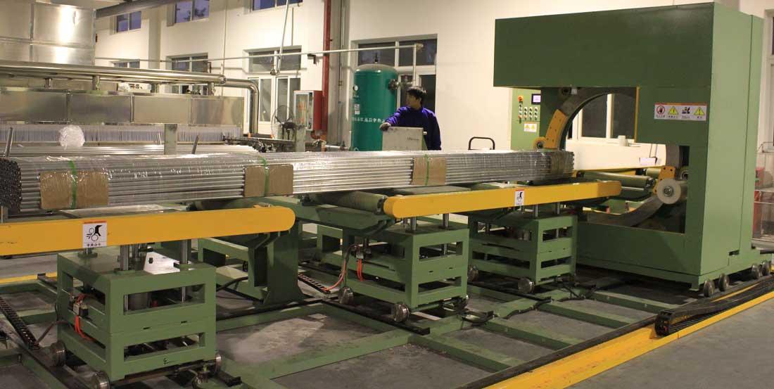 Aluminum profile stretch wrapping machine/Aluminum packaging