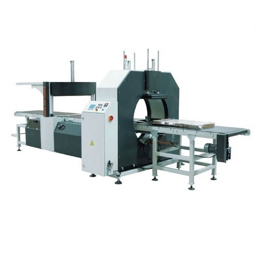 Orbital stretch wrapper with film sealer
