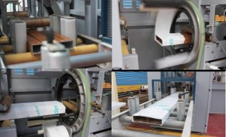 Aluminum Horizontal Orbital Wrapping Machine