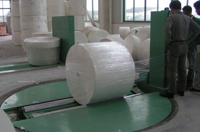 Carpet shrinking packing machine