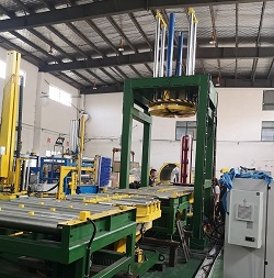 Automatic wire coil compressing packing line