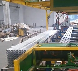 Aluminum profile stacking machine