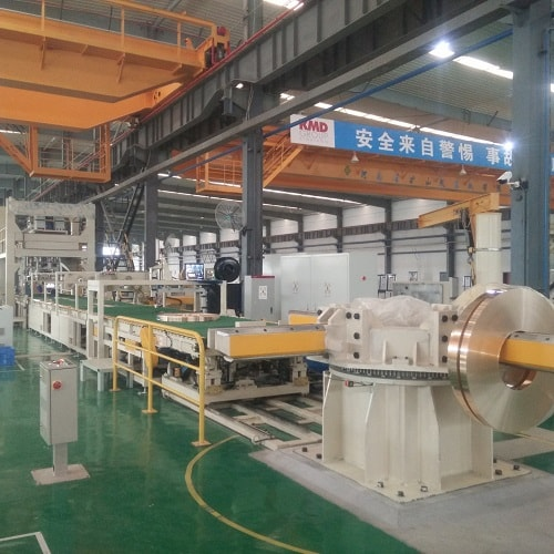 Stainless steel coil packing line