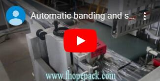 Automatic bundle stretch wrapping and shrinking line