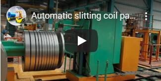 Automatic slitting coil packing line for steel coil