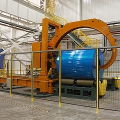 Master coil stretch wrapping machinery