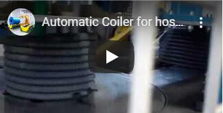 hose coiler and wrapping machine