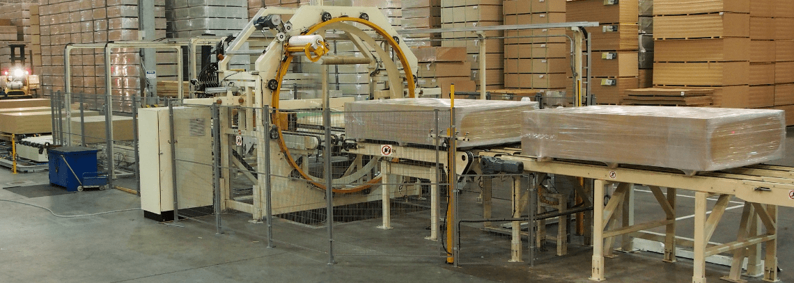 Six Sided Horizontal Orbital Stretch Wrapper for Board