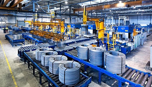 Automatic wire coil compacting and strapping solution
