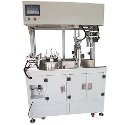 Automatic cable coiling and tying machine