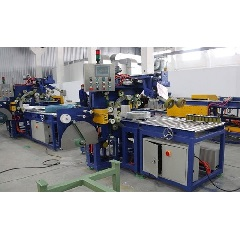 Automatic hose wrapping machine line