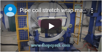 hose coil wrapping machine by stretch film