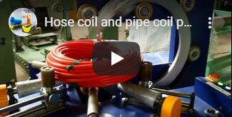 hose coil horizontal wrapping video