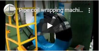 vertical hose coil wrapping packing