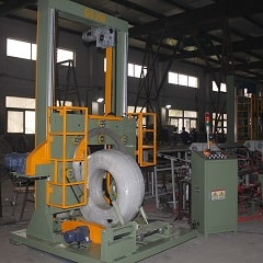 HDPE pipe coil packing machine