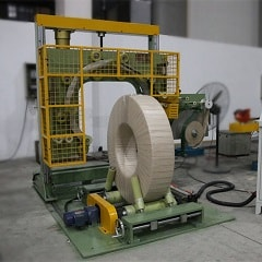 Coil wrapping machine for wire