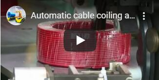 auto cable coiling and wrapping machine