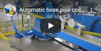 PIPE AUTO COILING AND STRAPPING MACHINE