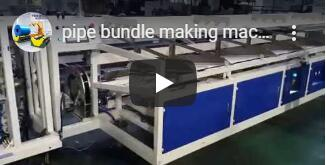 PVC pipe bundling and strapping machine