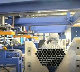 Automatiac steel pipe bundle packing line | Magnetic